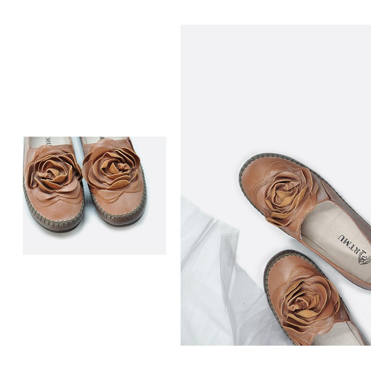 Plat Original Main Apricot En La pink Artmu Véritable Green Chaussures Vintage À Fleurs Confortable Cuir 301 Loisirs 2 PfdnqF
