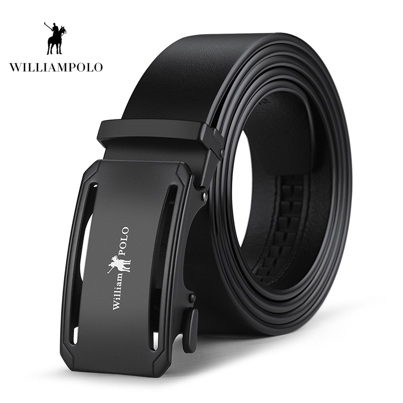 Williampolo 2019 100 Cow Genuine Leather Belts For Men High Quality Belt Automatic Buckle Male Original Brand Belt PL18305 6P in Men 39 s Belts from Apparel Accessories