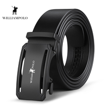 Williampolo 2019 100% Cow Genuine Leather Belts For Men High Quality Belt Automatic Buckle Male Original Brand PL18305-6P
