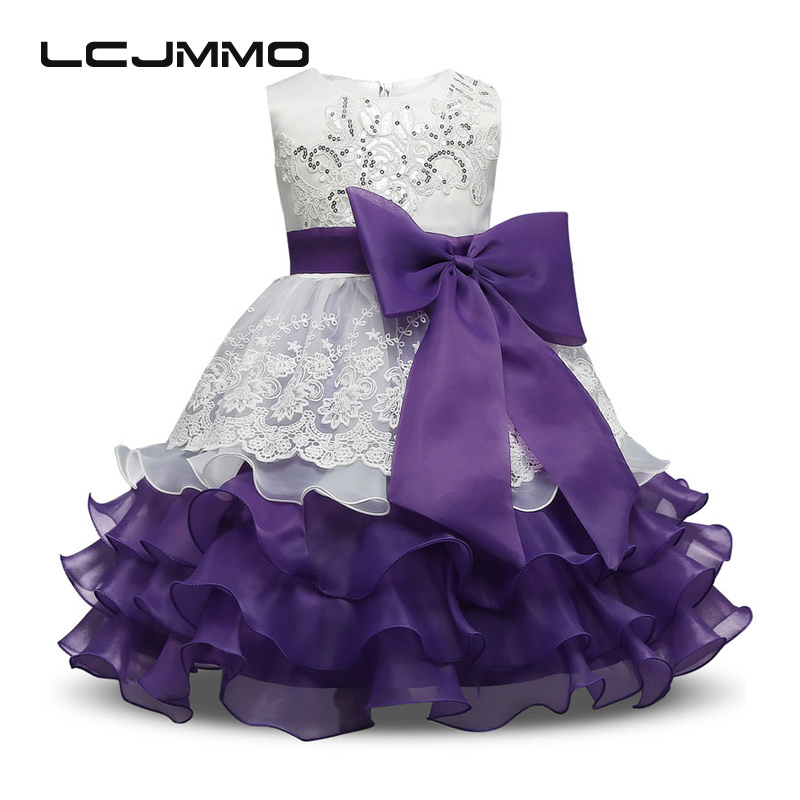 Baby Girl Formal Evening Gown Flower Wedding Tutu Princess Dress Girls Dresses Summer Kids Dresses for party clothes 3-8Yrs red new summer flower kids party dresses for weddings formal princess girl evening prom sleeveless girl bow mesh dress clothes