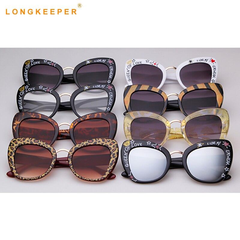 2019 Luxury Brand Women Sunglasses Oversized Brand Designer Big Frame Vintage Leopard Black Frame Sun Glasses Cateye Oculos