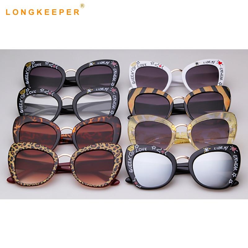 2019 Роскошные Брендовые женские солнцезащитные очки негабаритные брендовые дизайнерские винтажные леопардовые черные солнцезащитные очки кошачьи глаза Oculos