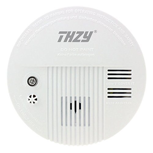 Smoke and Carbon Monoxide Alarm, THZY 10 Year Sensor Battery Operated Smoke Alarm and Carbon Monoxide CO Detector with Voice W