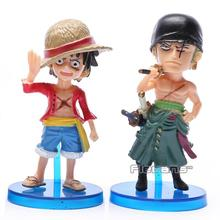Anime One Piece 8pcs/set Luffy Zoro Jinbe Hordy Jones PVC Figure Toy