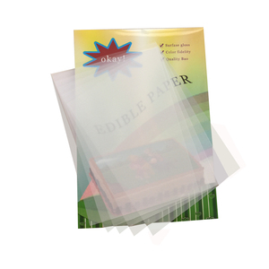 Chocolate Blank Transfer Paper sheets A4 Size 50sheets/Bag Transparent Apply Food Prints Onto Cake Lollipops Edible Ink Printing