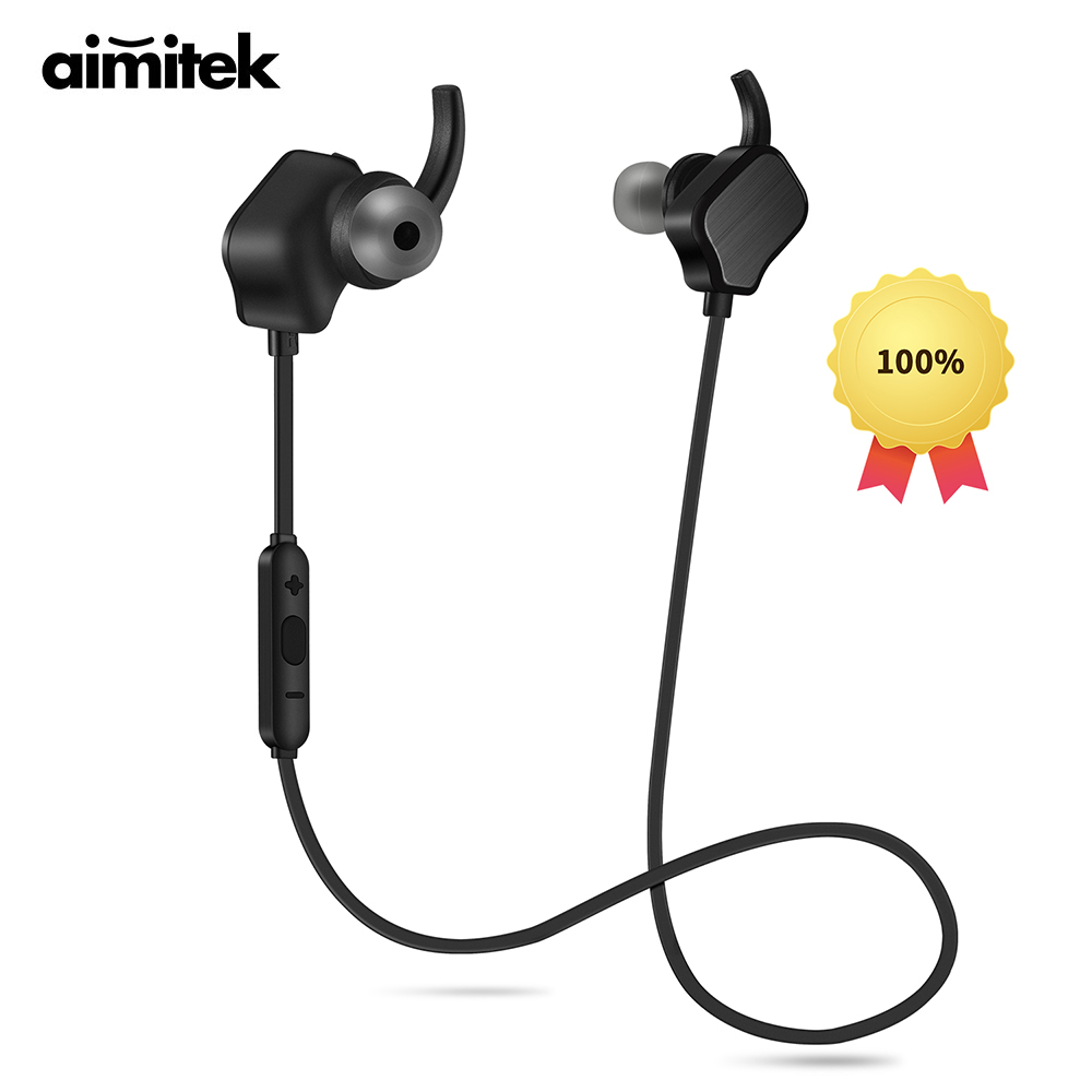 Aimitek Magnetic Bluetooth Earbuds Wireless Apt-X Stereo Headphones Noise Cancelling Headsets Sweatproof Sport Earphone with Mic high quality laptops bluetooth earphone for msi gs60 2qd ghost pro 4k notebooks wireless earbuds headsets with mic