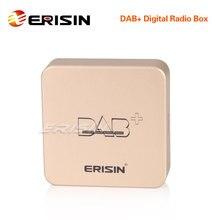 Erisin ES364デジタルラジオ、dab + ボックス空中増幅アンテナandroid 7.1/8.1/9.0/10.0車ステレオ