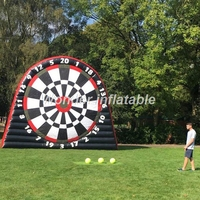 2017 most popular 4mH giant inflatable football dart game outdoor giant inflatable soccer dart board game for adult