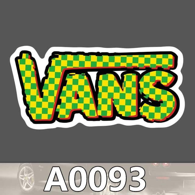 8c35ad1f40 Fashion Brand Vans Logo Vinyl Decal Stickers Skateboard Ski Skate Car Window  Skate Motor Bike Phone Luggage Graffiti Waterproof