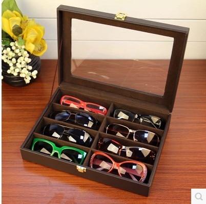 d150d13c901 8 grid storage box upscale sunglasses display boxes glasses collection box    sunglasses box
