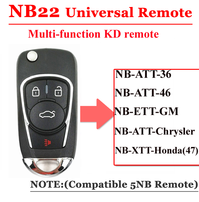 Free shipping (1 piece)NB22 Universal Multi-functional kd900 remote 4 button NB series key for KD900 URG200 remote Master free shipping 4 1 button full remote key shell for chrylser dodge jeep 10 piece lot