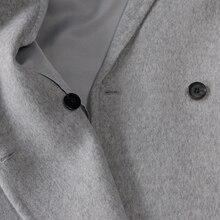 MCCKLE Women Autumn Winter Coats Jackets warm wool blends vintage solid Oversized High Quality Winter Long Coat Manteau Femme