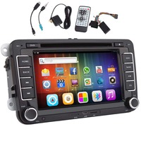 System USB Android 5 1 Car DVD Player Can Bus 4 CORE APP Auto For VW