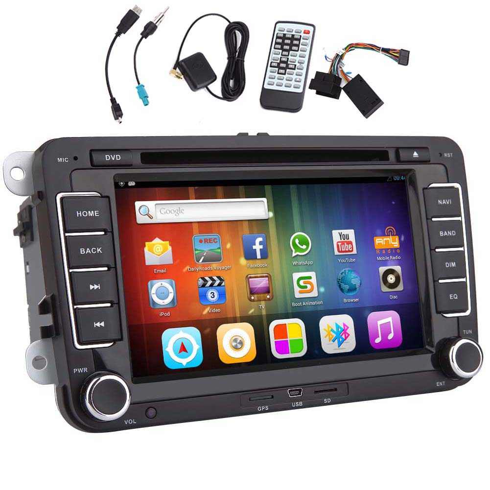 US $261 24 5% OFF|System USB Android 5 1 Car DVD Player Can Bus 4 CORE APP  Auto For VW Volkswagen Autoradio GPS NAVI Radio Stereo 1080P Bluetooth-in