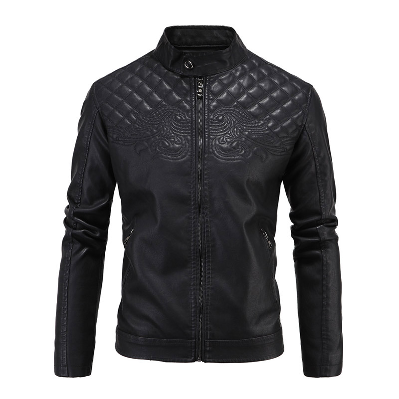 New Leather Motorcycle Jackets Men Vintage Moto Jackets Faux Leather Coats Biker Classic Punk Slim Stand Collar Size M-5XL