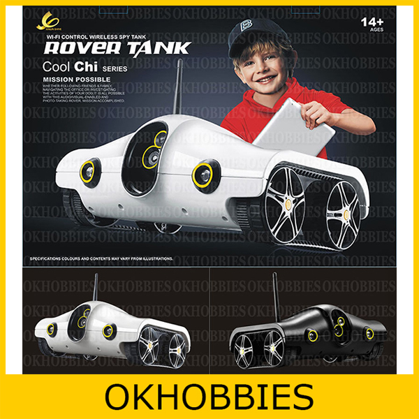 Cool-Chi iSpy iPad iPhone Control RC Tank Car WiFi APP Game RC i-Spy Rover Wireless Tank with Infrared Night Vision Video Camera