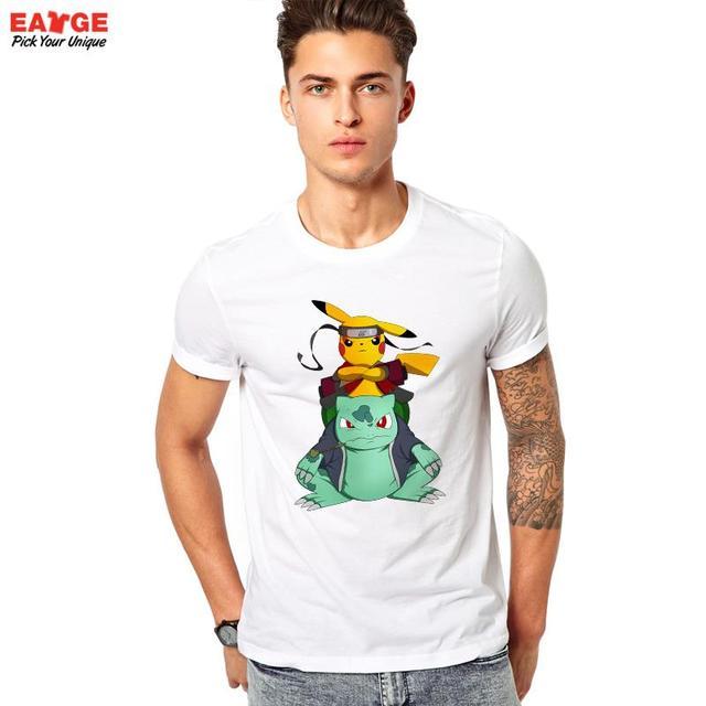 Transformador Design T-shirt Naruto Anime Personagens Pokemon Camiseta Cool Fashion Estilo Da Novidade Das Mulheres Dos Homens de Impressão Tshirt Tee Topo
