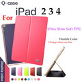 Brand Kaku For Apple iPad 2 3 4 Tablet Cases Christmas Birthday Gift Luxury Classic PU Leather Flip Case Smart case