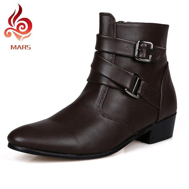 2016 Моды для Мужчин Обувь Из Натуральной Кожи Зимние Ботинки Мужчины Водонепроницаемый Теплые Ботинки Удобные Ботинки Мужчины Размер: 39-44 JL512-1