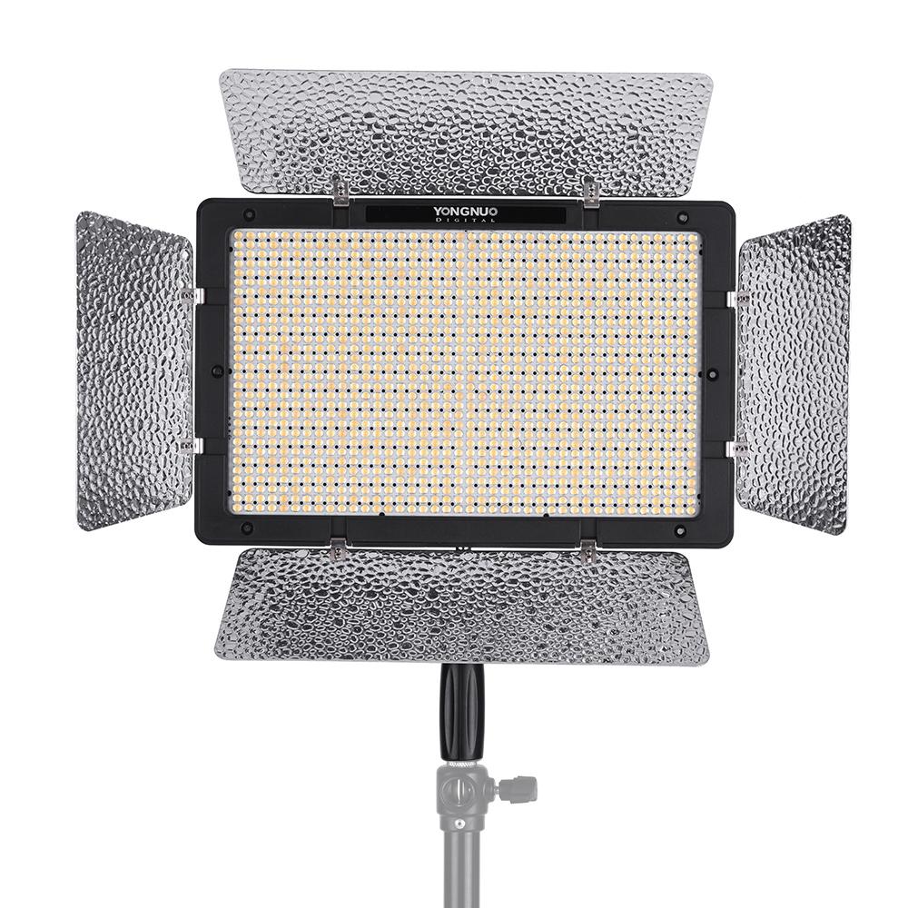 Prix pour Yongnuo yn1200 pro led vidéo lumière 5500 k éclairage photographique vidéo remplir Lumière w/2 Pcs CT Filtres & Télécommande CRI 95