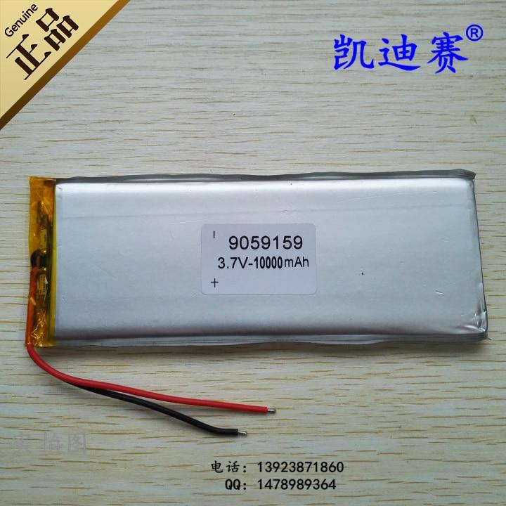 Batterie au lithium polymère 3.7 V 9059159 10000 mAh tableau de bord LED d'alimentation mobile universelle Rechargeable Li-ion