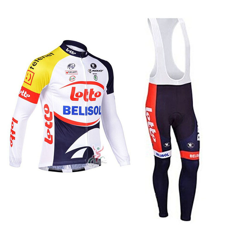 2018 pro Team LOTTO Cycling Jersey set Autumn Long sleeve Mountain Bicycle  Cycling Clothing MTB Bike Clothes Ropa Ciclismo-in Cycling Sets from Sports  ... 5cbc3221a