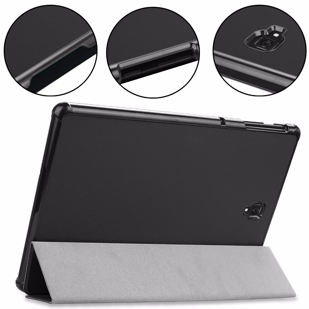 Slim Case For Samsung Galaxy Tab S4 2018 10.5 SM T830 T835 Leather Smart Magnetic Stand Cover For Samsung Galaxy S4 10.5 protective pu leather case w card slot strap for samsung galaxy s4 mini i9190