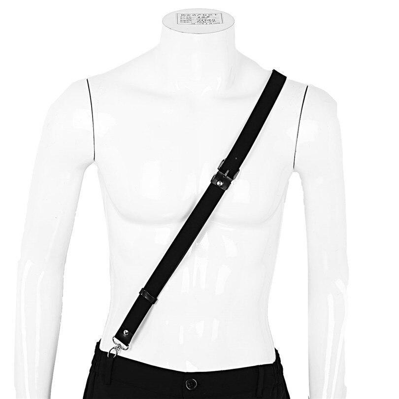 新しい到着セクシーな男性メンズランジェリーシングルショルダー括弧は調節可能なサスペンダーボディ胸ベルトハーネスタイツタイツ