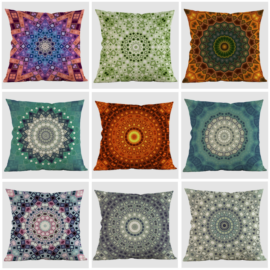 thailand decorative cushion cover meditation pillows ethnic buddism floor cushion boho mandala