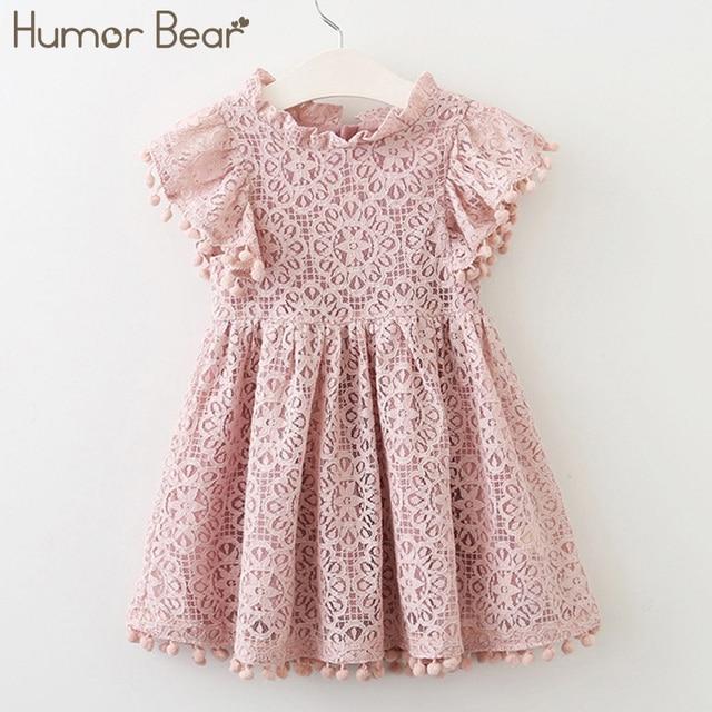 Humor Bear dress for girl 2019 New Brands Girl Dresses Tassel Hollow Out Design Princess Dress Kids Clothes Children's clothes