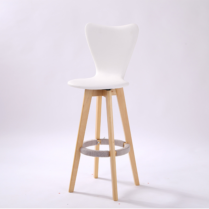 bar stool white color solid wood leg computer chair living room villa leisue coffee table desk stool free shipping