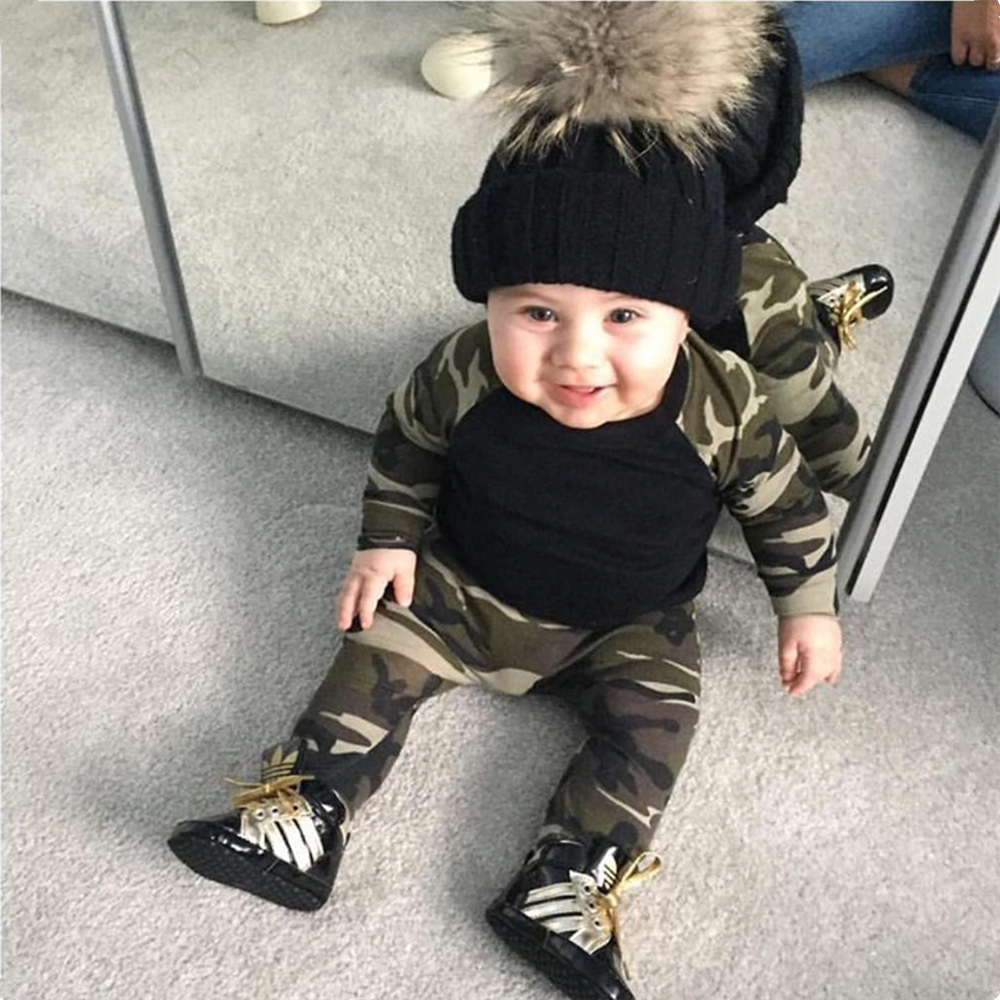 2018 new style newborn toddler baby boy clothes long