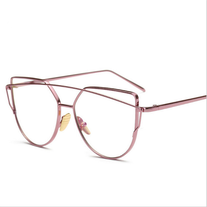 Hot Selling Ladies PC Frames Oval Steel Wire Legs Frame Clear Lens Glasses For Men And Women Simple Four Colors Glasses
