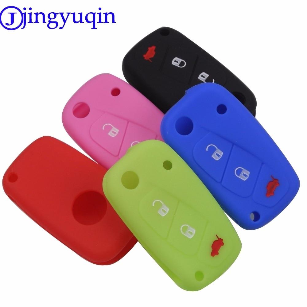 jingyuqin 3 buttons Silicone car key case cover For FIAT /Panda /Stilo /Punto /Doblo /Grande /Bravo 500 Ducato /Minibus fashion men 100% leather key car key holder car cover case for fiat 500 panda punto bravocar duster 3 buttons remote control