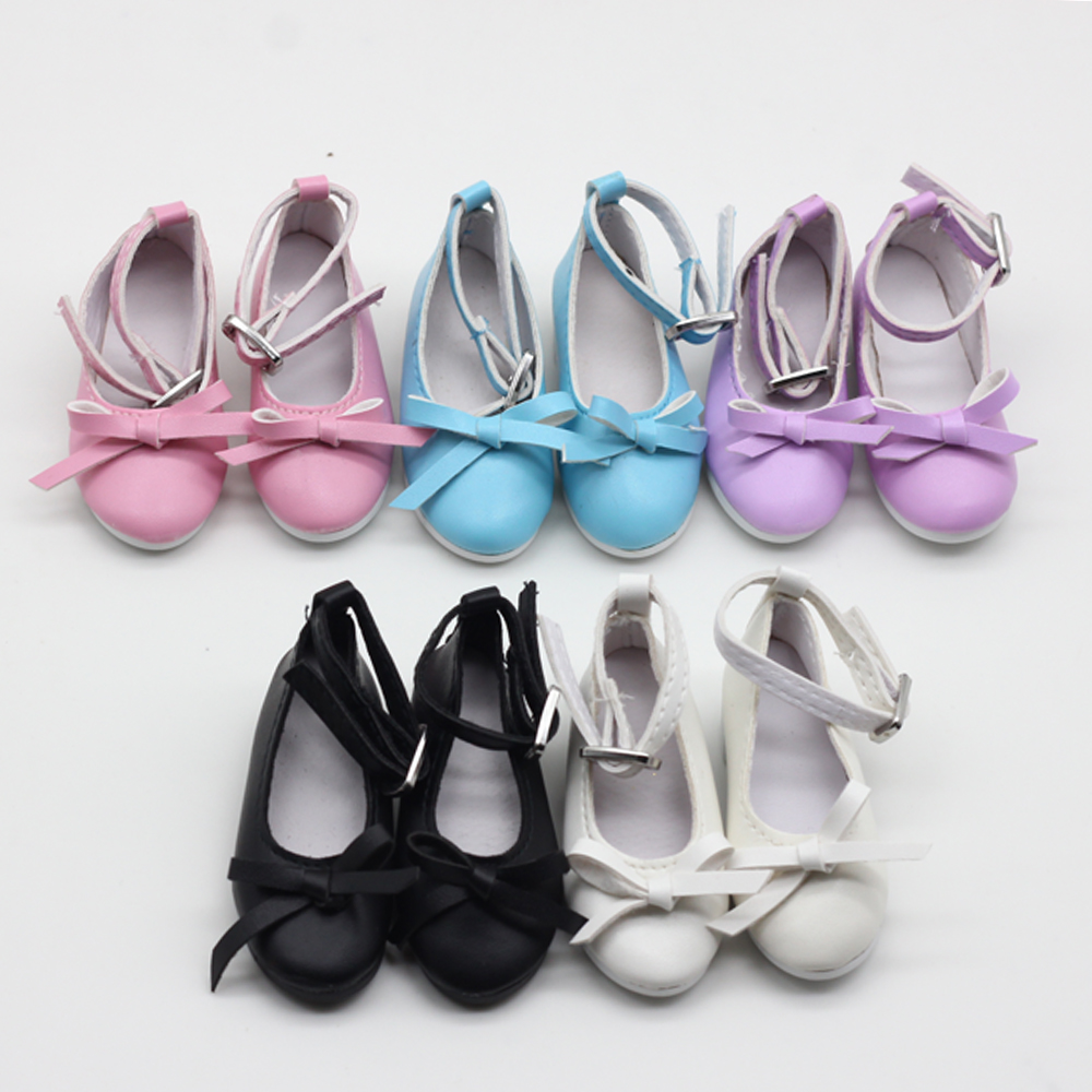 1pair Bow Princess Shoes Suit For 60cm 1/3 BJD/SD Doll Shoes For Doll Dress Accessories 7.8cm