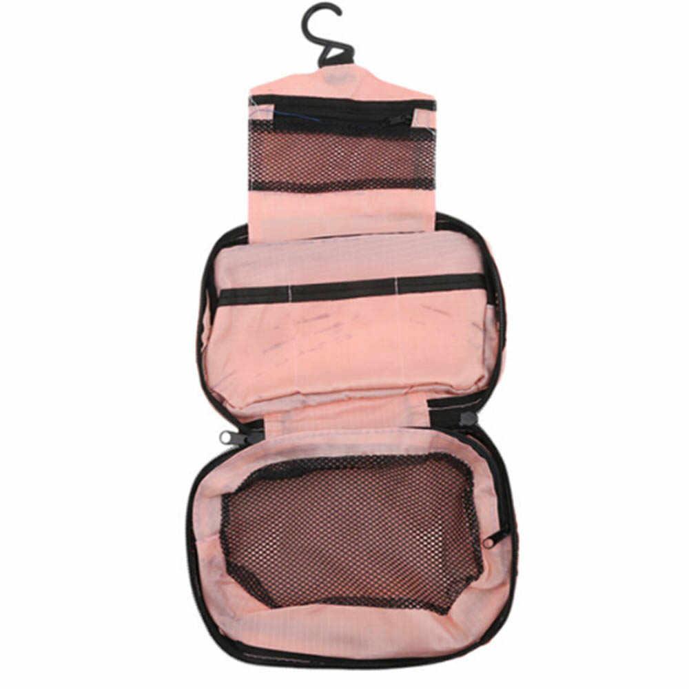 1 Pcs Travel Hanging Toiletry Portable Bag Large Kit Folding Waterproof Makeup  Organizer for Men   26a7825032240