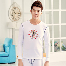 Men's First Grade Thermal Underwear Suits Cotton Face Printed Backing Long Johns (for A Suit)