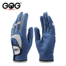 GOG 1pcs golf gloves fabric blue glove left right hand for golfer breathable sports ads glove driver gloves brand new