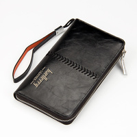 High Capacity Zipper Cowhide Men Wallets Luxury Genuine Leather Brand Men Clutch Wallet Men S Purse