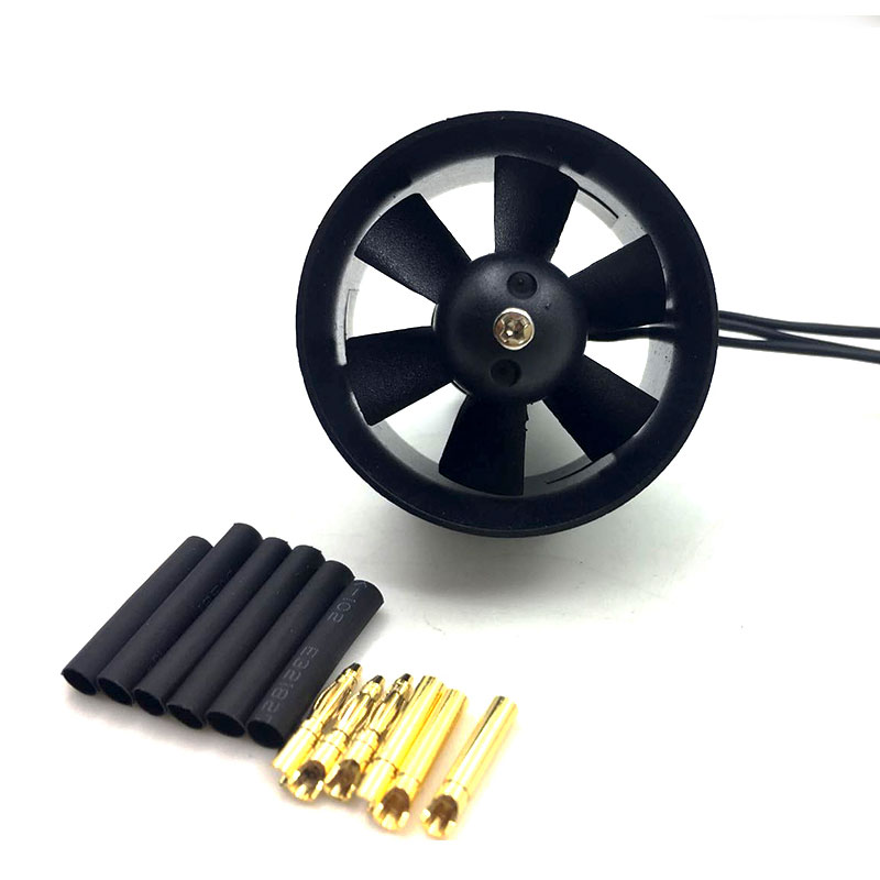 QX-Motor 30mm 6 Blades Ducted Fan EDF QF1611 5000KV Brushless Motor For DIY RC Airplanes Model Parts