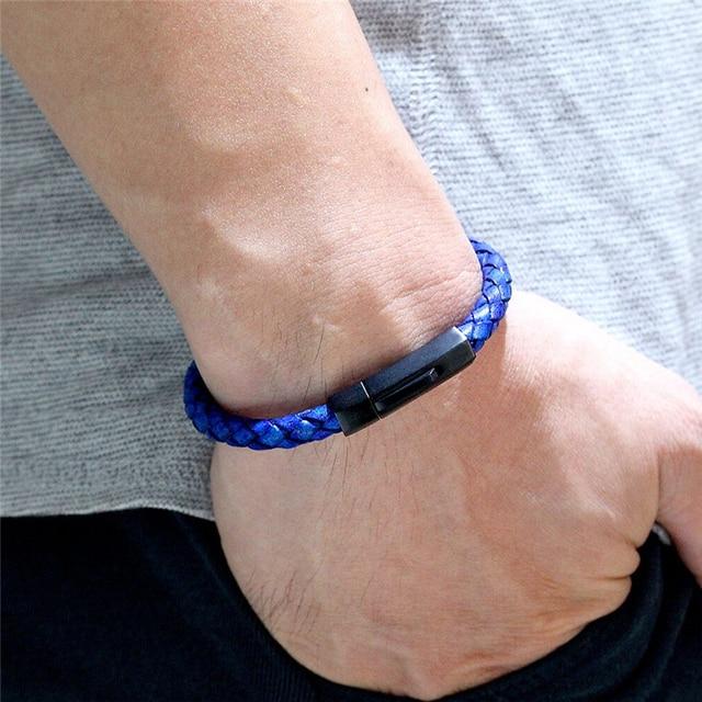 Купить новый браслет из натуральной плетеной кожи для мужчин и женщин