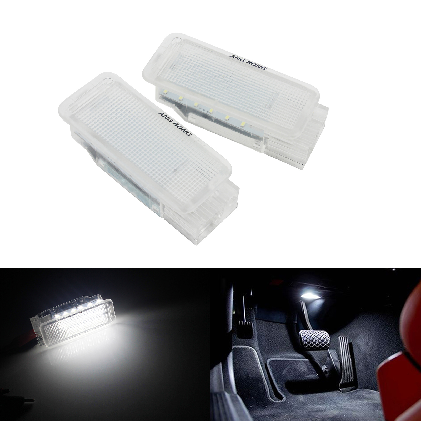 ANGRONG <font><b>LED</b></font> Luggage Footwell Trunk Boot Interior <font><b>Light</b></font> For <font><b>Peugeot</b></font> 206 207 307 <font><b>308</b></font> 407 RCZ image