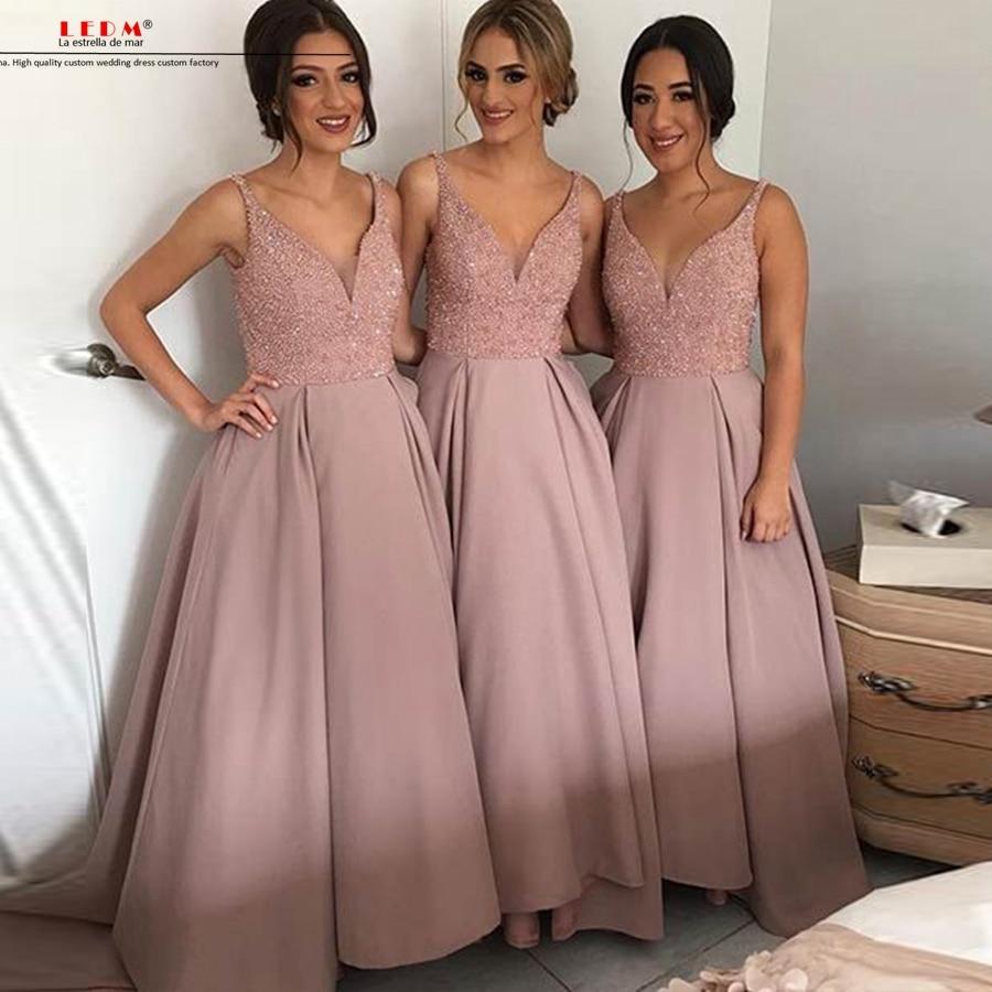 Vestidos largos de fiesta madrinha casamento 2017 nuevo satén ...