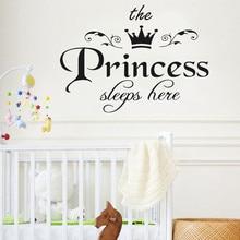дешево!  Принцесса Наклейка Гостиная Спальня Винил Резьба Наклейки На Стены X7.19 Лучший!