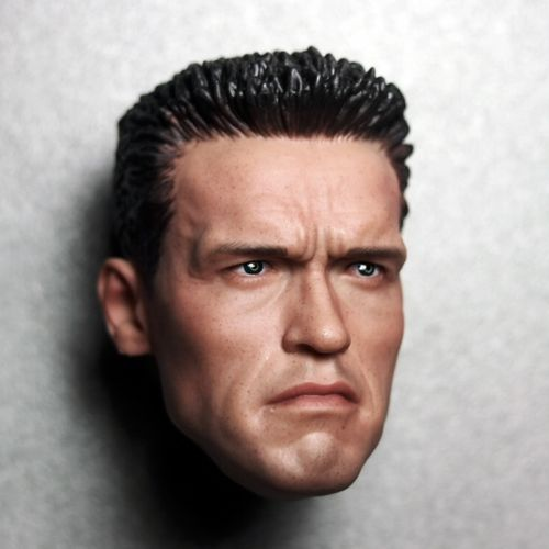 1/6 Scale Arnold Male Head Sculpt Model Terminator 2 For 12 Action Figure Toys Accessories bosch best for concrete unc 1 4 2600116066