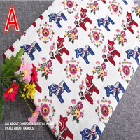 50 150cm Christmas Deer Linen Cotton Fabric Meter Patchwork Costura Tissus Sewing Textiles Tilda Tela Felt
