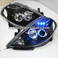 2008 2010 Year for NISSAN Tiida LED Bule Color Angel Eyes Head Light