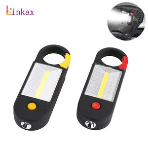Torch Flashlight Working-Light Inspection-Lamp Magnetic-Clip 3-Aaa-Battery Mini Cob Led