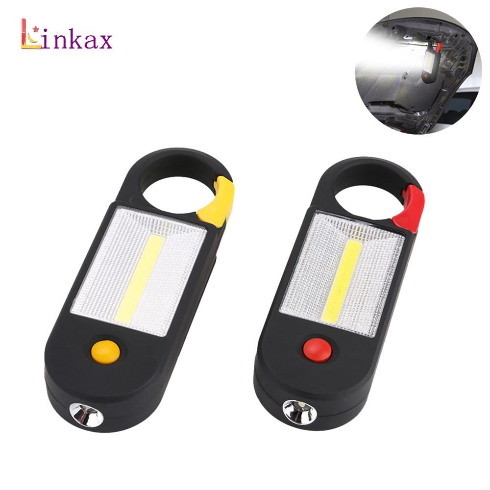 Mini Inspection Lamp 2 Mode COB LED Working Light Magnetic Clip Torch Flashlight Work Lights By 3 AAA Battery