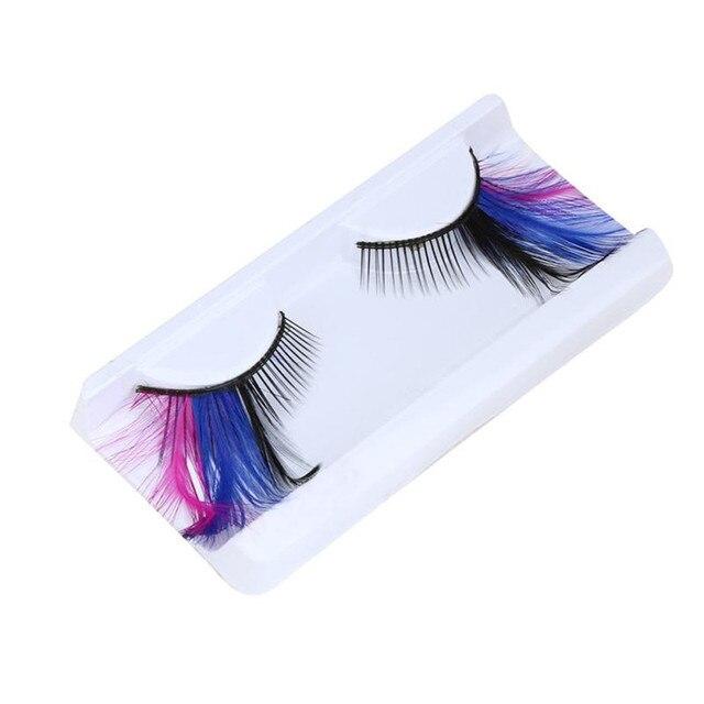 91189a0c233 2018 HOT Women Fancy Soft Long Feather False Eyelashes Eye Lashes Makeup  Party Club Fashion Drop Shipping